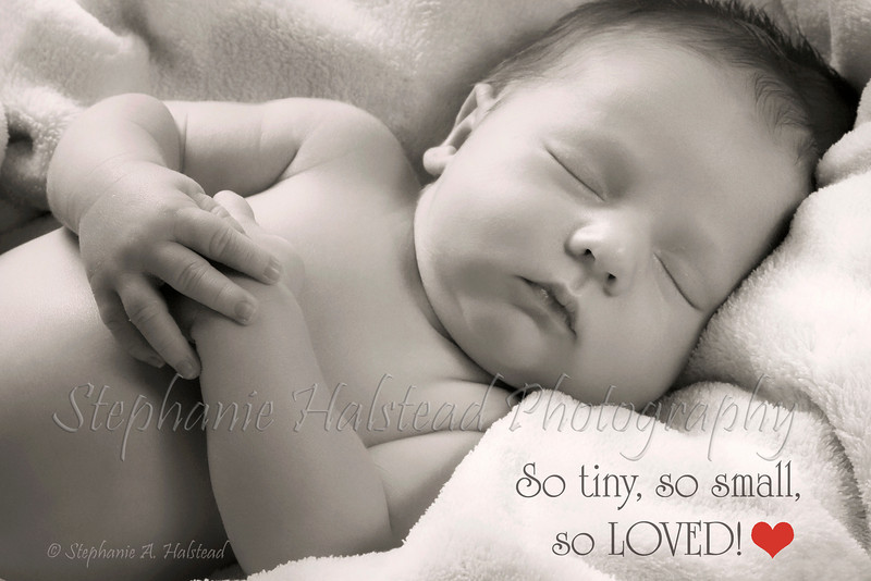 """""""So Loved!""""<br /> Perfect for a baby shower card. :)"""