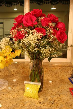 Mommy loves flowers.