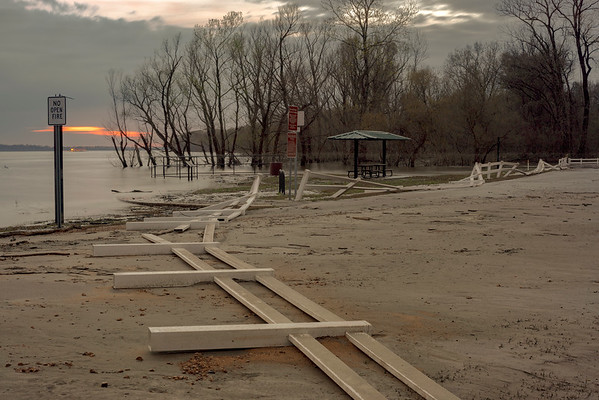 Aftermath Of Mississippi River Rising