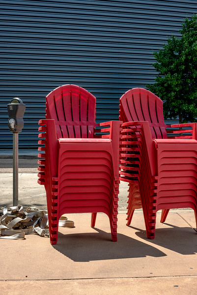 The Stacked Red Chairs