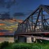 Memphis-Arkansas Bridge at Sunset