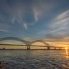 Sun Setting Behind Memphis Bridge