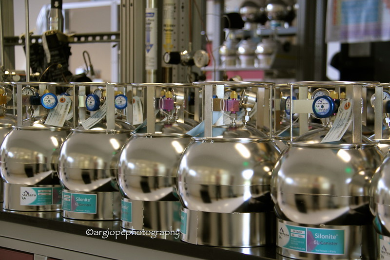 Air canisters in the lab