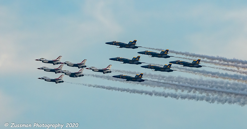 Navy's Blue Angels and the Air Force's Thunderbirds