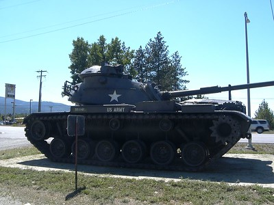 Just another army tank in Idaho