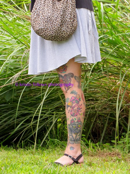 leopard skin & body art