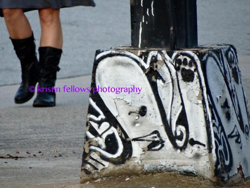 black boots & grafitti