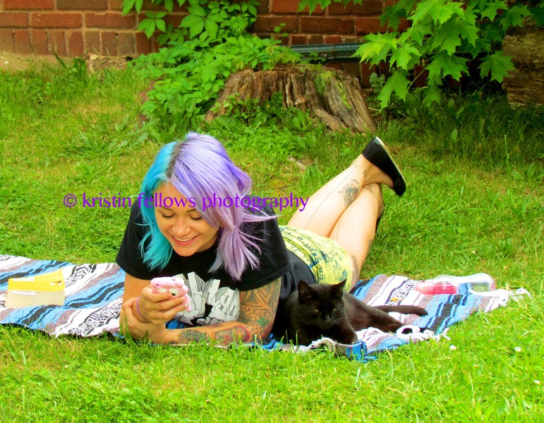 turquoise & lavender hair