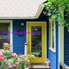 blue & yellow house