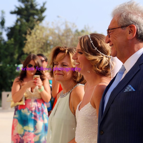 the bride sees the groom
