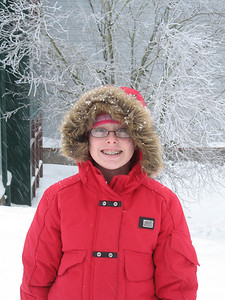 Natalie in the snow.