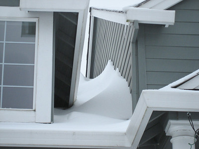 Snowdrift on the roof.