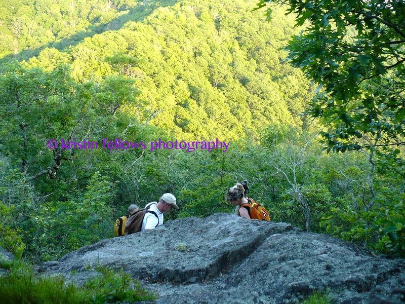 hawkbill rock, blue ridge mountains