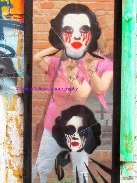 self portrait in chicken alley