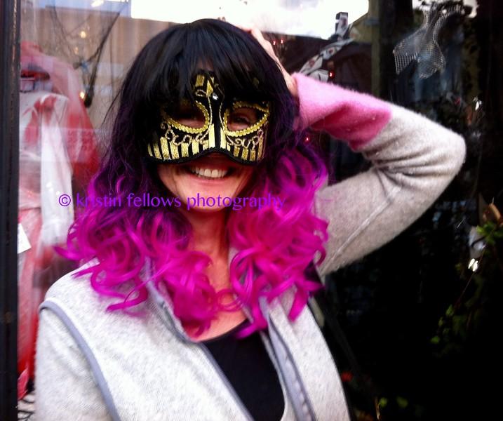 kristin in pink & black