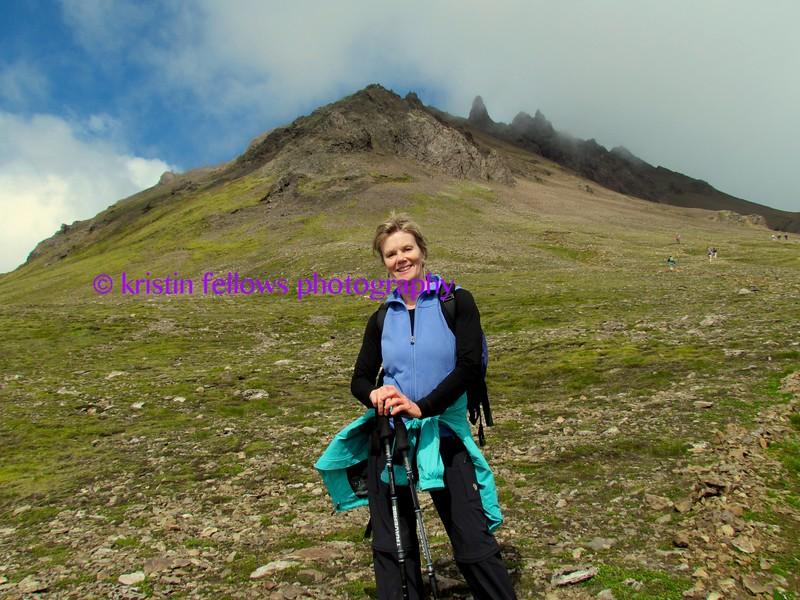 hiking  kristínartindar, iceland