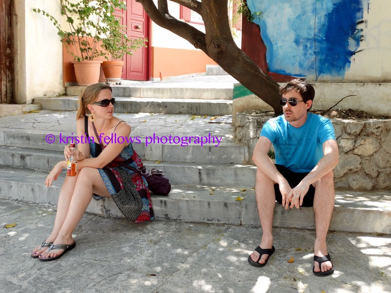 zoë & leif on the streets of plaka