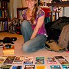 zoe with travel brochures