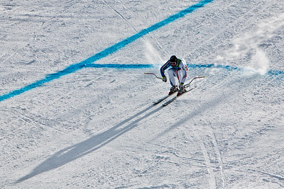 Competitor on the the 'Dave Murray' Downhill race during the 2010 Olympics