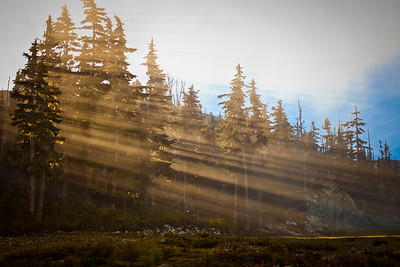 Early morning sun on Blackcomb Mountain