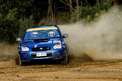 Rally driving in Tasmania