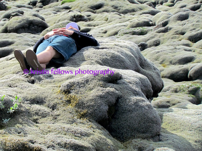 napping on lichen covered lava, somewhere in iceland