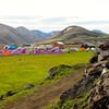 base camp, landmannalaugar, iceland