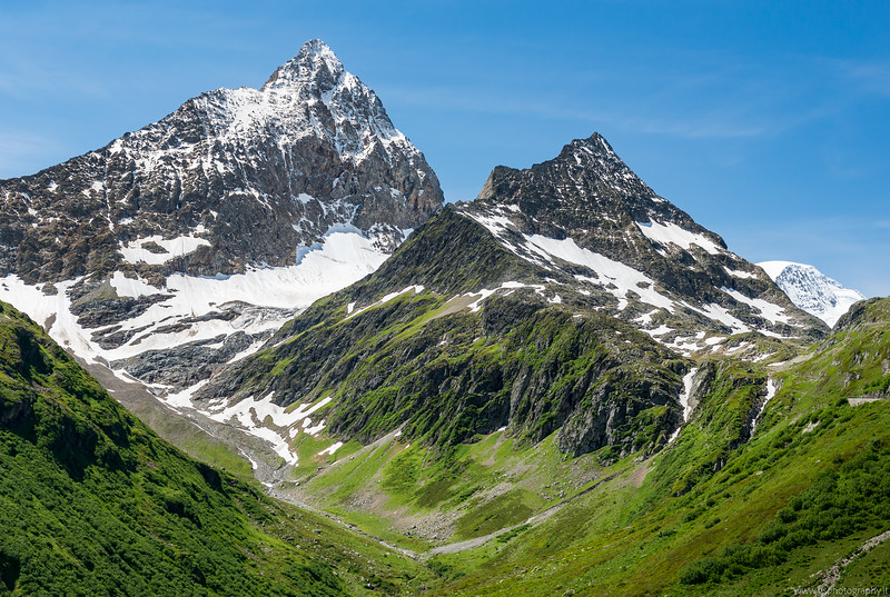 Swiss Alps in the summer
