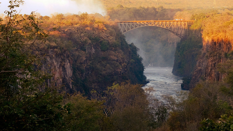 The view of the river the falls empties into. Taken from the back of the Victoria Falls Hotel.