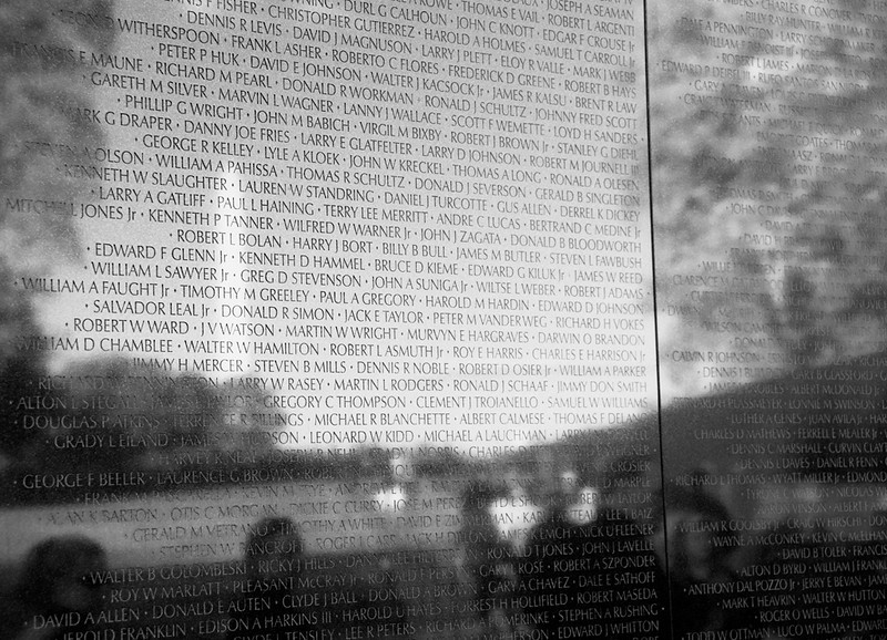 Viet Nam Veterans Memorial with Reflection of the Washington Monument