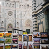 Postcards for sale in front of il Duomo
