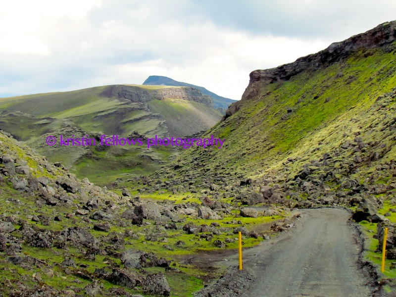 the road to ófærufoss, central iceland