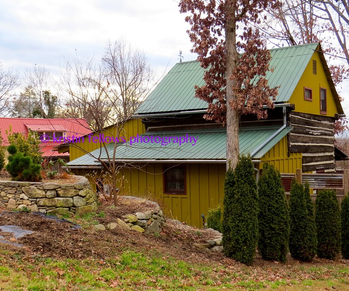 modern day log cabin
