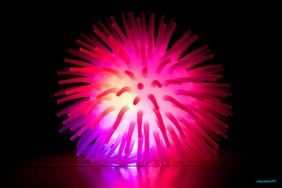 Some weird rubber light up ball, awesome colors.