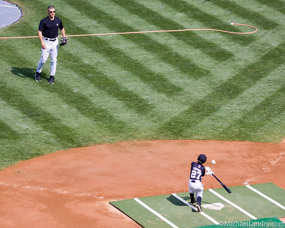 Joe Girardi and his son, who will play in the big leagues some day