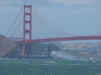 USS Iowa leaving SF 5/26/12