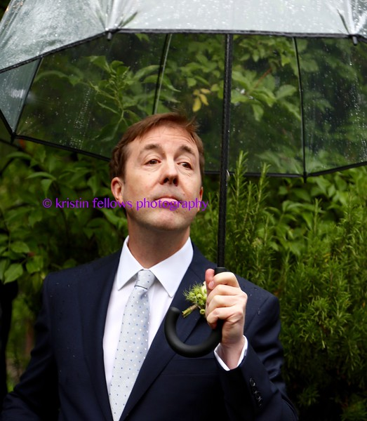 looking for his bride in the rain