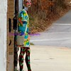 waiting for the bus
