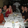 Josh, Ryan, Sara, Tomoko, and Adam enjoy one of the best dinners in a long time