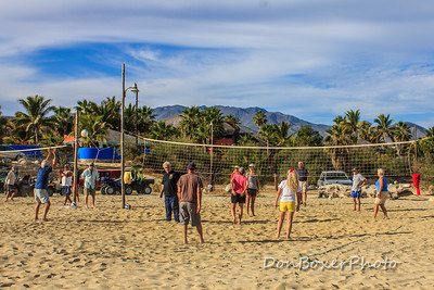 The Gringo volleyball game almost every morning.
