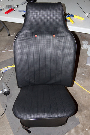 Completed passenger seat