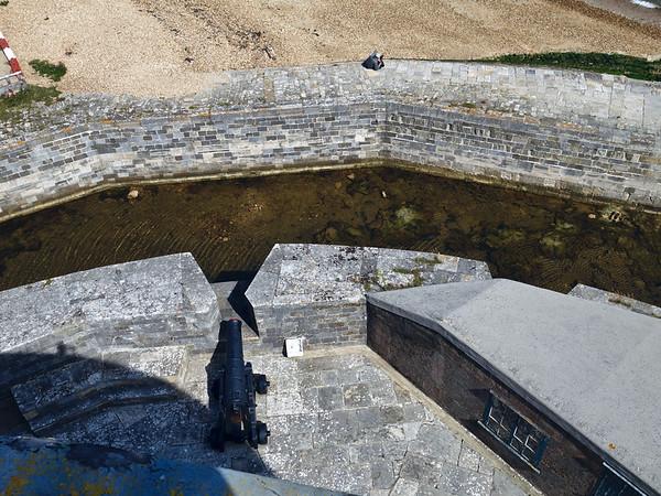Calshot Castle moat