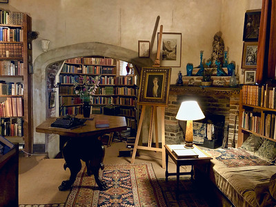 Vita Sackville-West's study in the tower at SIssinghurst Castle