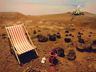 Martian diorama