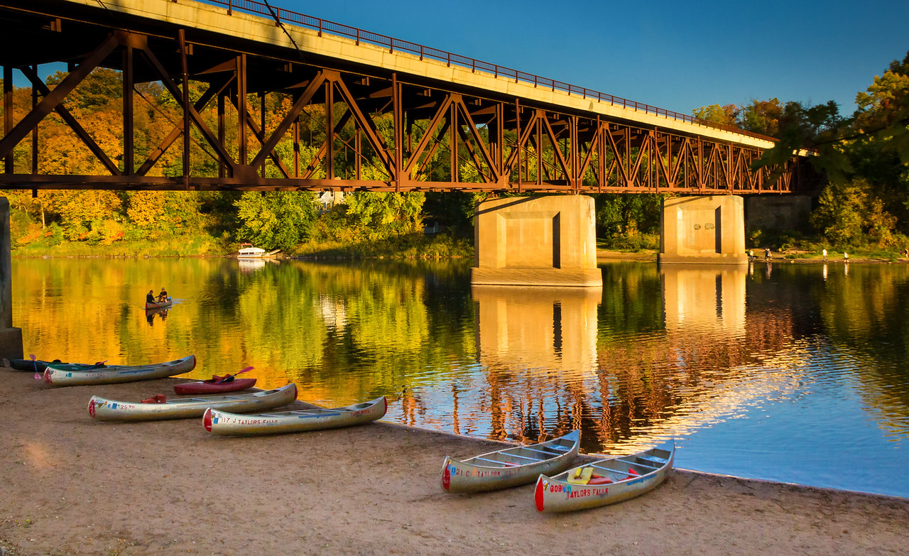 Autumn Canoes on the St. Croix