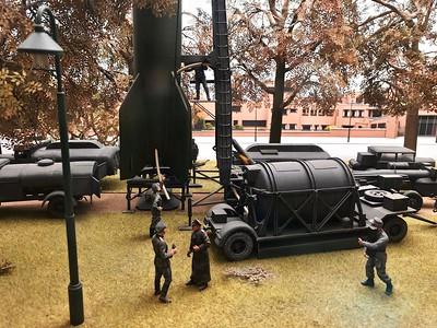 V2 rocket diorama