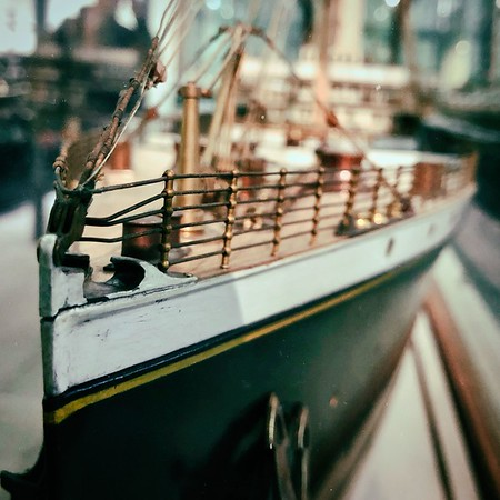 Prow of a model ship