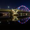Skyline Under a Bridge