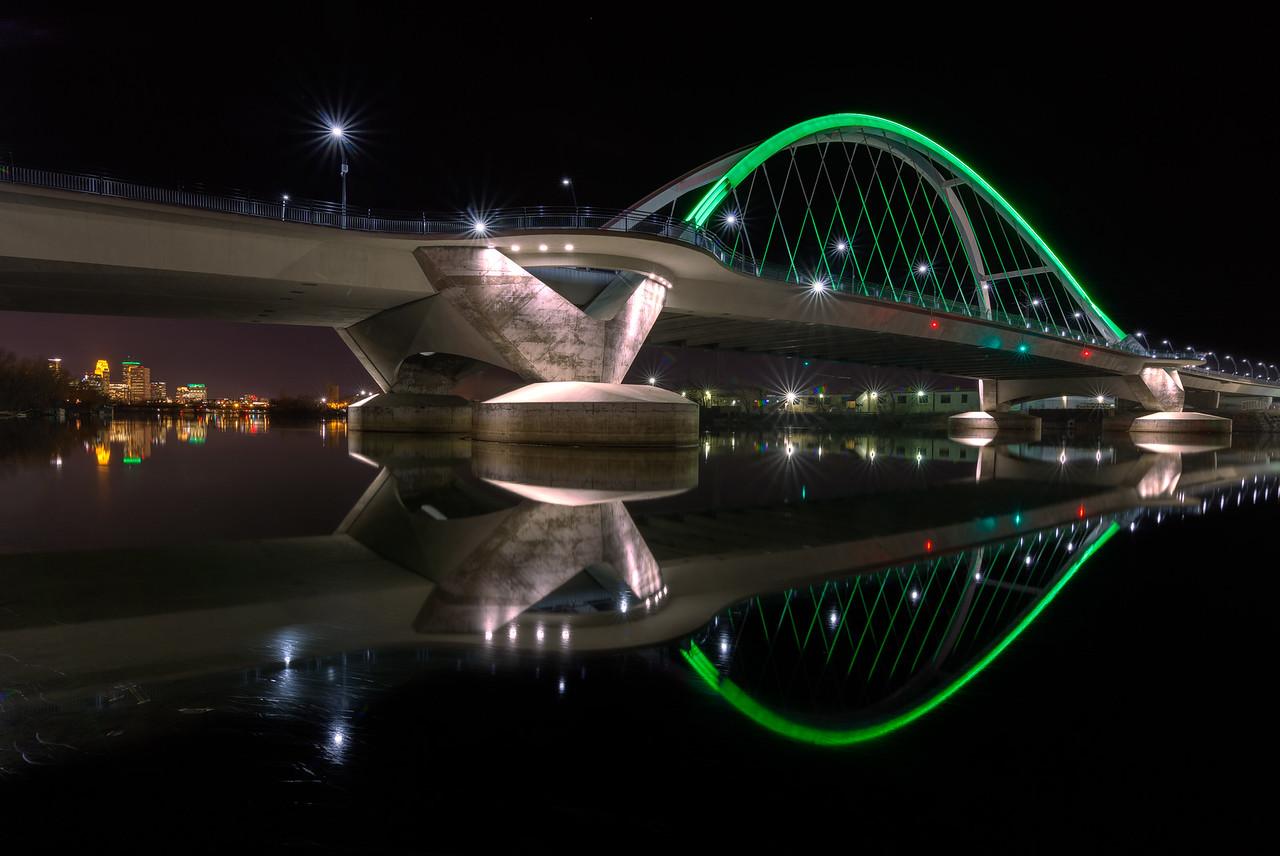 City Under a Green Bridge
