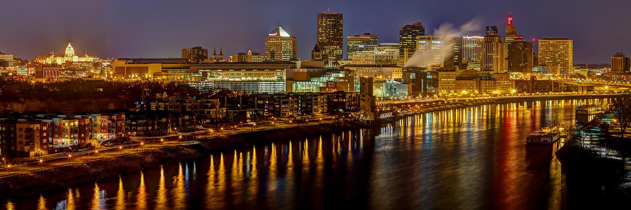 The St. Paul skyline as seen from the Smith Avenue High Bridge